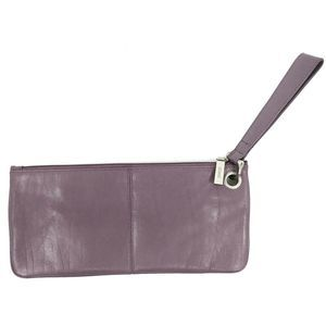 HOBO Int'l Lavender Leather Clutch Wristlet 11x5